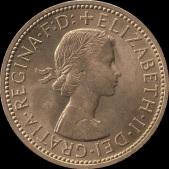 British_pre-decimal_halfpenny_1967_obverse