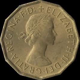British_threepence_1967_obverse