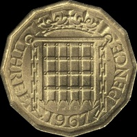 British_threepence_1967_reverse