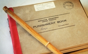 Punishment books in the State Records office.