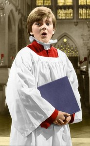 14 year old chorister Aled Jones at St Edmundsbury Cathedral today 25/4/85.